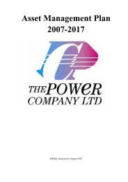 The Power Company Asset Management Plan ... - PowerNet Limited