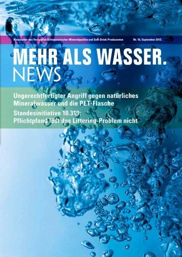 Ungerechtfertigter Angriff gegen natürliches Mineralwasser und die ...