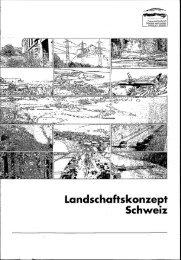 Landschaftskonzept Schweiz - Schweizer Informationssystem ...