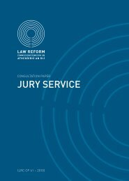Consultation Paper on Jury Service - Law Reform Commission
