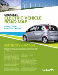 Manitoba's Electric Vehicle Road Map - Government of Manitoba