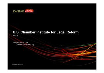Lawyers Mass Tort Solicitation Advertising - Institute for Legal Reform