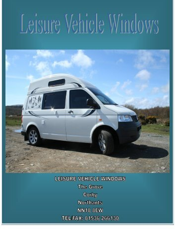Page No's Vehicles - Leisure Vehicle Windows
