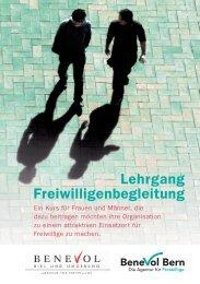 Lehrgang Freiwilligenbegleitung - Benevol Bern