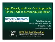 High Density and Low Cost Approach for the PCB of semiconductor ...