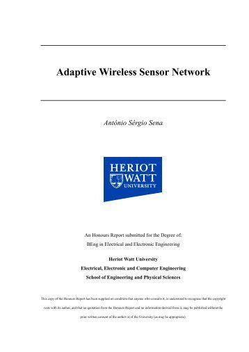 Adaptive Wireless Sensor Network - António Sérgio Sena