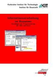 Grundlagen der Programmierung mit VBA Visual Basic for