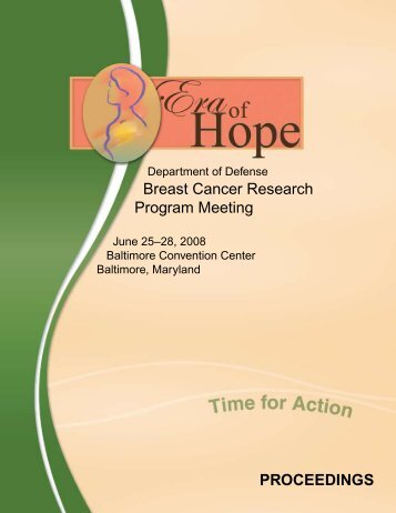 2008 Era of Hope Meeting Breast Cancer Research