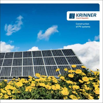 Construction of PV systems - Krinner Czech Republic