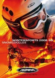 SNOWGOGGLES WINTERSPORTS 2008·09 - Alpina