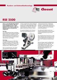 RSE 2500 - Bluhm Systeme Gmbh