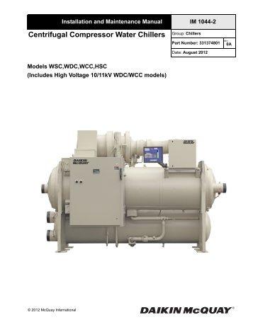 Ag 31 002 centrifugal chiller fundamentals mcquay international im 1044 2 centrifugal installation manual mcquay international swarovskicordoba Image collections