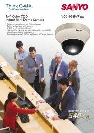 "VCC-9685VP 1/4"" Color CCD Indoor Mini Dome Camera"