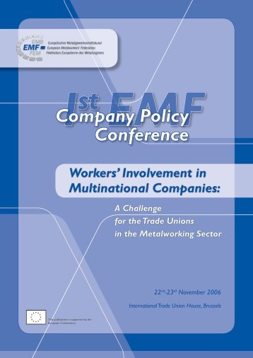 EMF company policy conference report EN - Euronote
