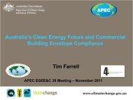 Session 4 Tim Farrell - Australia - APEC Expert Group on Energy ...