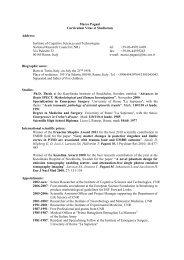 CV marco pagani - Istituto di Scienze e Tecnologie della Cognizione ...