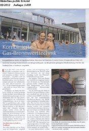 Artikelausschnitt Bäderbau 02/2012 - Brötje
