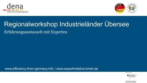 PDF: 951,5 KB - Exportinitiative Erneuerbare Energien - BMWi