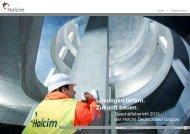 Geschäftsbericht 2011 der Holcim Deutschland Gruppe