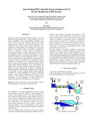Auto Tuning PID Controller based on Improved GA - International ...