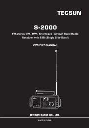 S-2000 TECSUN FM-stereo/ LW / MW / Shortwave / Aircraft Band ...