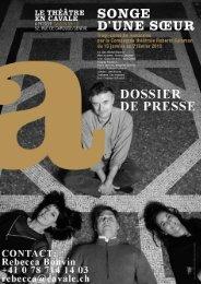 dossier de presse   songe d'une soeur - Le Théâtre en Cavale