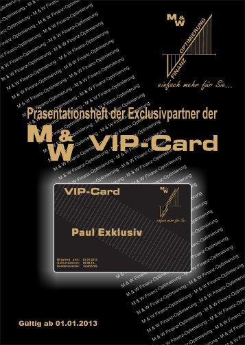 broschuere - M&W Finanzoptimierung GmbH & Co KG