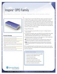 Inspire ™ OPO Family - Newport Corporation