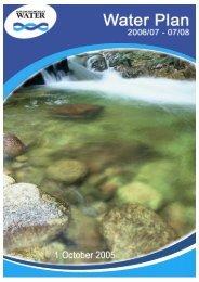Water Plan 2006/07 – 2007/08 - Goulburn-Murray Water
