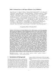 N269: Radio Continuum Surveys with SKA Pathfinders - Australia ...