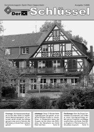 Der Schlüssel - Ausgabe 1/2009 - Kath. Pfarrei St. Peter Heppenheim