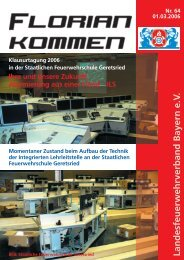 Ausgabe Nummer 64 - Landesfeuerwehrverband Bayern