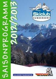 S A IS O N P R O G R A M M - Skiclub-Hunderdorf