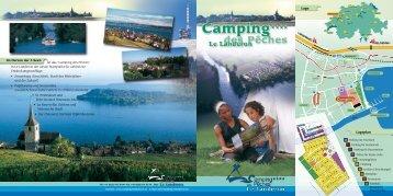 """Im Herzen der 3 Seen ist das """"Camping des Pêches"""" in Le Landeron ..."""