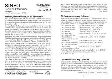 sinfo januar 2010_internet.qxp - Stadt Lohmar