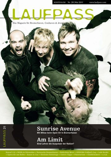 Sunrise Avenue Am Limit - LAUFPASS Online