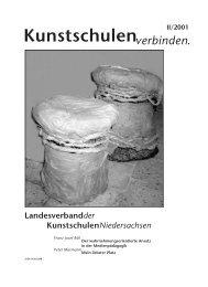 Kunstschulenverbinden. II/2001 - KUNST & GUT >> Startseite