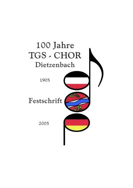 Festschrift 100 Jahre 17 MB / PDF-Format - TGS-Chor