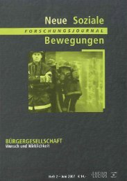 Vollversion (2.15 MB) - Forschungsjournal Soziale Bewegungen