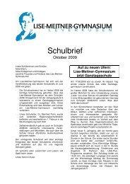 neu_Schulbrief Oktober 2009 1 - Lise-Meitner-Gymnasium