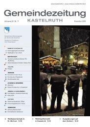 Gemeindezeitung Kastelruth - Ausgabe Dezember 2009 (4,33 MB