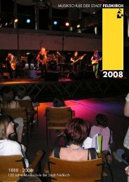 musikschule der stadt feldkirch - Musikschulwerk Vorarlberg