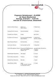 KLASSIK der Neuen Musikschule Sonntag, 25.09.2011 – 10.30 Uhr ...