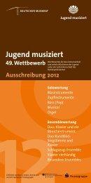 Jugend musiziert - Landesmusikrat Schleswig-Holstein