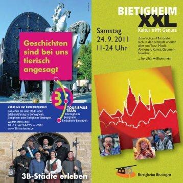 Programm Kulturtag XXL - in Bietigheim-Bissingen