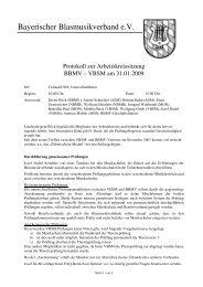 Bayerischer Blasmusikverband e.V. - Verband Bayerischer Sing