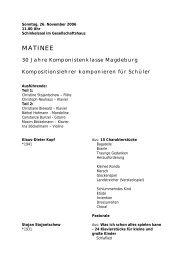 PROGRAMMHEFT als PDF - Zeitgenössische Musik