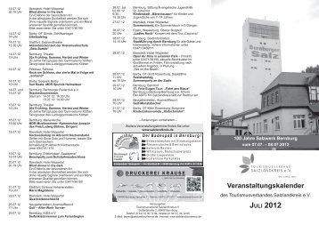Veranstaltungskalender - Stadt Staßfurt