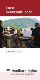 pro nota° – KONZERTE 2012 - Musikschule Nordhorn