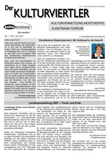 Nr. 1 / April 2005 - NÖ Tage der offenen Ateliers